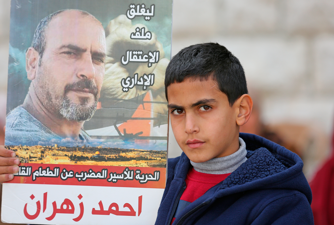 Sit-in of the family of the beaten prisoner Ahmed Zahran (3)